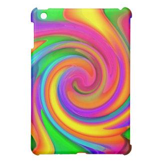 Caso de neón del iPad del diseño de los creyones