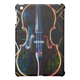 Caso de neón del iPad del violoncelo