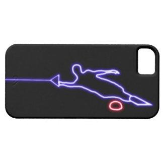 Caso de neón del iPhone 5 del esquiador del agua d iPhone 5 Case-Mate Protector