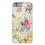 Caso de neón del iPhone 6 de la flor de la Funda De iPhone 6 Barely There