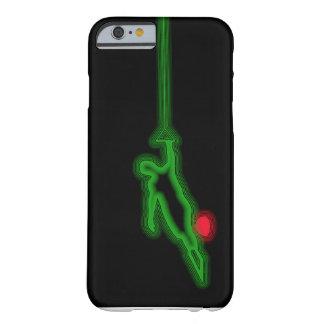 Caso de neón del iPhone 6 del verde del esquiador Funda Barely There iPhone 6
