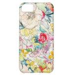 Caso de neón del iPhone de la flor de la acuarela