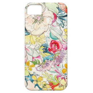 Caso de neón del iPhone de la flor de la acuarela iPhone 5 Protectores