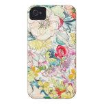 Caso de neón del iPhone de la flor de la acuarela Case-Mate iPhone 4 Carcasas