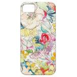 Caso de neón del iPhone de la flor de la acuarela iPhone 5 Carcasa
