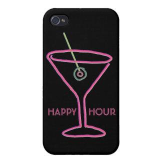 Caso de neón retro del iPhone 4 de la hora feliz d iPhone 4 Cobertura
