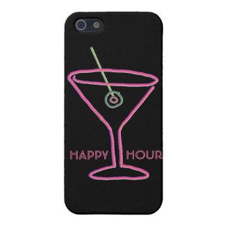 Caso de neón retro del iPhone 5 de la hora feliz iPhone 5 Coberturas