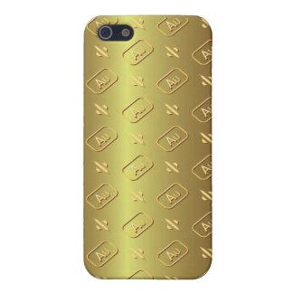 Caso de oro del iPhone 5 del estilo del lingote de iPhone 5 Fundas