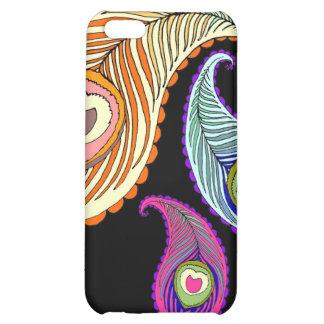 Caso de Paisley del pavo real para el iPhone 5C