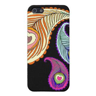 Caso de Paisley del pavo real para el iPhone iPhone 5 Cobertura