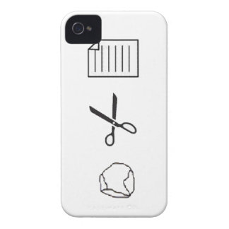 Caso de papel de Iphone de las tijeras de la roca iPhone 4 Case-Mate Coberturas