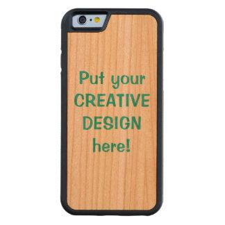Caso de parachoques de madera de encargo del funda de iPhone 6 bumper cerezo