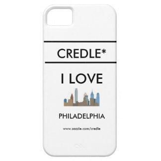 Caso de PHILADELPHIA del AMOR de Credle Iphone iPhone 5 Funda