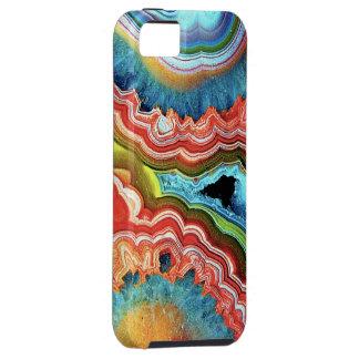 """""""Caso de piedra del iPhone 5 del arco iris """" iPhone 5 Case-Mate Cárcasa"""