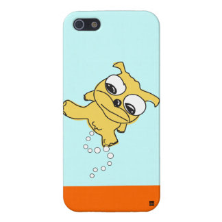 Caso de pis del iPhone 5 del perro amarillo iPhone 5 Cobertura