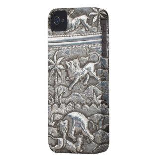 caso de plata antiguo del iPhone iPhone 4 Case-Mate Funda
