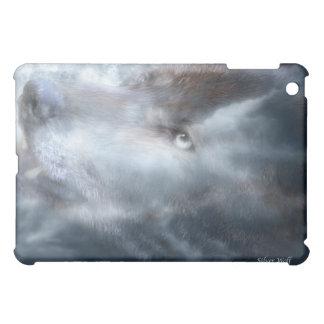 Caso de plata del arte del lobo para el iPad