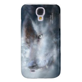 Caso de plata del arte del lobo para el iPhone 3
