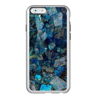 caso de plata del extracto de la labradorita del funda para iPhone 6 plus incipio feather shine