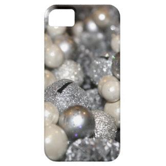 Caso de plata del iPhone 5 de la chispa del brillo iPhone 5 Case-Mate Cobertura