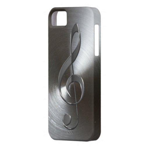 Caso de plata del iPhone 5 del Clef agudo del aman iPhone 5 Case-Mate Protectores