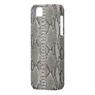 Caso de plata del iPhone 5G de la piel de serpient iPhone 5 Protectores