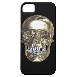 Caso de plata del iPhone 5G del cráneo del cromo iPhone 5 Carcasa