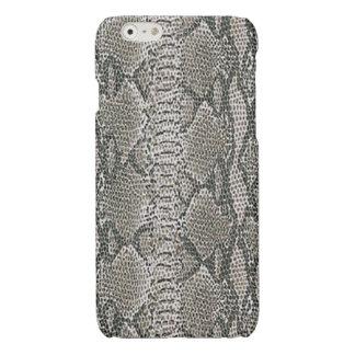 Caso de plata del iPhone 6 de la piel de serpiente