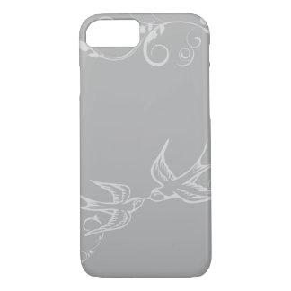 Caso de plata del iPhone 7 del trago Funda iPhone 7