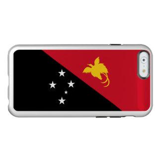 Caso de plata del iPhone de Papúa Nueva Guinea Funda Para iPhone 6 Plus Incipio Feather Shine