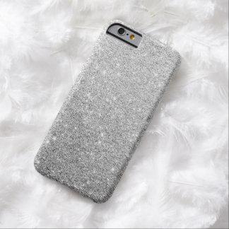 Caso de plata elegante del iPhone 6 del brillo Funda Barely There iPhone 6