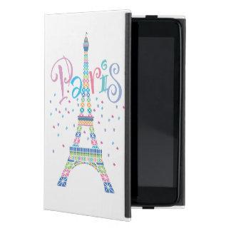 Caso de Powis del iPad del confeti de la torre Eif iPad Mini Funda