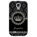 Caso de princesa Damask Crown Samsung S4 del vinta