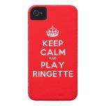 "Caso de Ringette IPhone 4 - ""guarde la calma"" - ro iPhone 4 Case-Mate Coberturas"