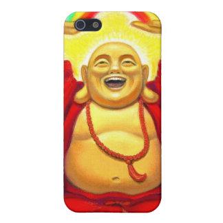 Caso de risa del iPhone 4 de Buda del arco iris iPhone 5 Carcasas