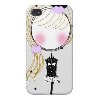 Caso de RockStar PenGirl Iphone4 iPhone 4 Protectores