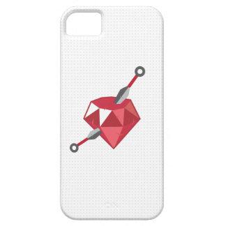 Caso de rubíes del iPhone 5 del friki de la piedra iPhone 5 Carcasa