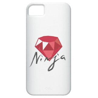 Caso de rubíes del iPhone 5 del friki de la piedra iPhone 5 Carcasas