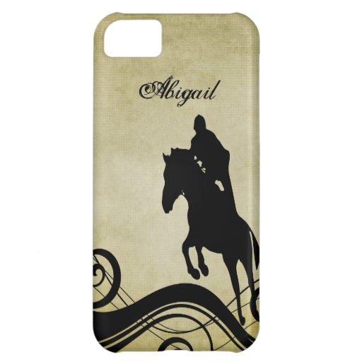 Caso de salto del iPhone 5 del caballo ecuestre