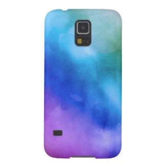 Caso de Samsung 5 - arco iris de la acuarela Funda Para Galaxy S5