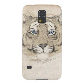 Caso de Samsung Galexy S5 del tigre de los ojos az Carcasa Para Galaxy S5
