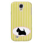 Caso de Samsung s4 de la silueta del perro de Terr