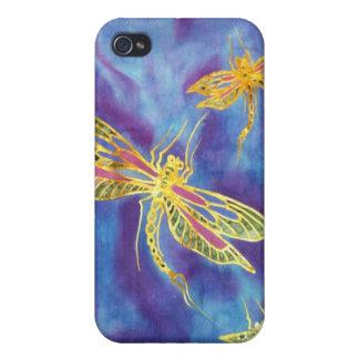 Caso de seda de la libélula de IPhone 4/4S iPhone 4 Coberturas