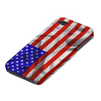 Caso de seda del iPhone 4 de la bandera de los E.E iPhone 4/4S Funda