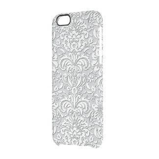 Caso de seda escarpado del iPhone del efecto de la Funda Clear Para iPhone 6/6S