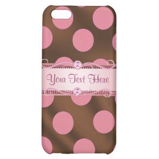 Caso de seda rosado de Iphone 4/4S del lunar de P6