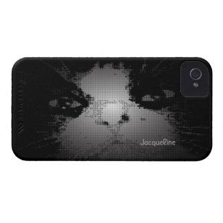Caso de semitono del iPhone 4 del gato negro Carcasa Para iPhone 4 De Case-Mate