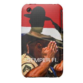 Caso de Semper Fi IPhone Case-Mate iPhone 3 Funda