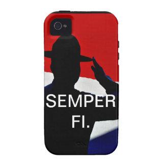Caso de Semper Fi IPhone Case-Mate iPhone 4 Carcasas
