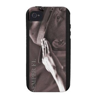 Caso de Semper Fi IPhone Case-Mate iPhone 4 Fundas